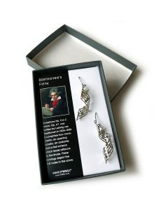 """Jewelry: Sterling Silver """"Beethoven's Fifth Symphony"""" Earrings"""