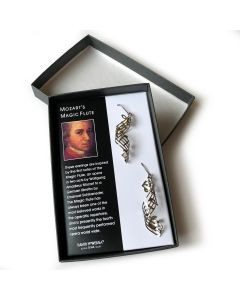 """Jewelry: Sterling Silver """"Mozart's Magic Flute Overture"""" Earrings"""