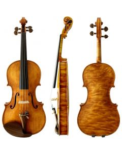 """Stankov Violin front and back with text """"end route, more photos coming soon!"""""""